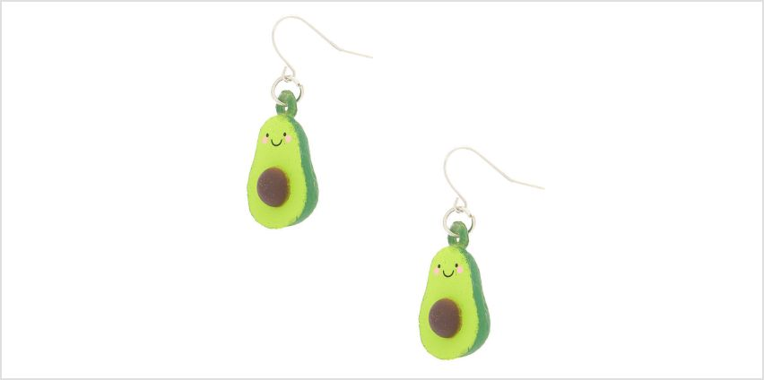 "Go to Product: Silver 1"" Squish Avocado Drop Earrings - Green from Claires"