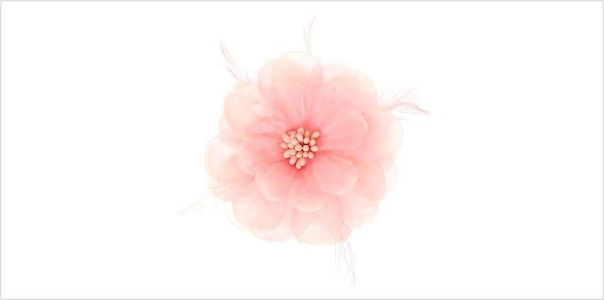 Go to Product: Lily Feather Hair Clip - Blush Pink from Claires