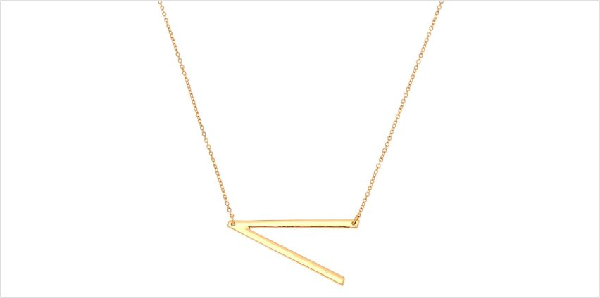 Go to Product: Oversized Initial Pendant Necklace - V from Claires