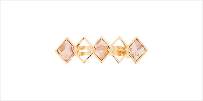 Go to Product: Marble Diamond Hair Barrette - Pink from Claires