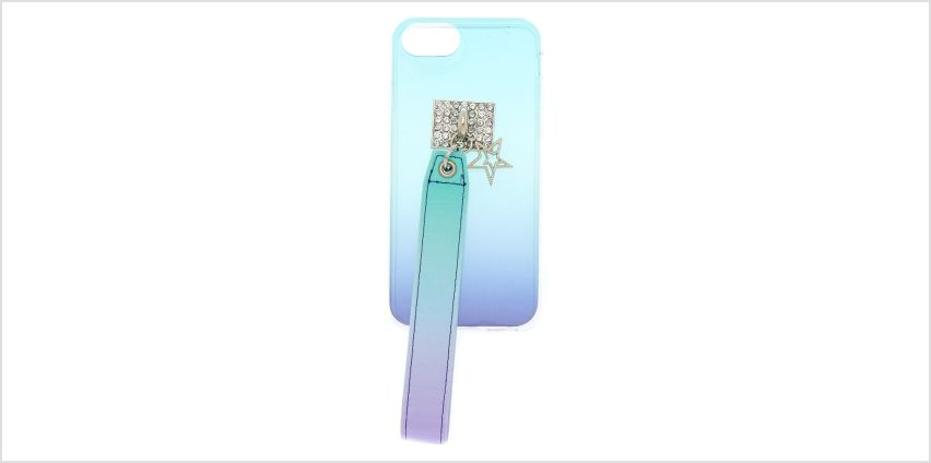 Go to Product: Blue Ombre Wrist Strap Phone Case - Fits iPhone 6/7/8 from Claires