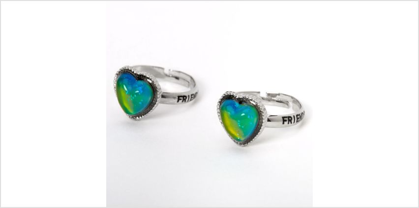 Go to Product: Best Friends Heart Mood Rings - 2 Pack from Claires