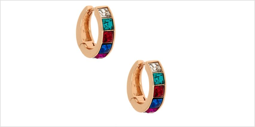 Go to Product: Gold 12MM Rainbow Hoop Earrings from Claires