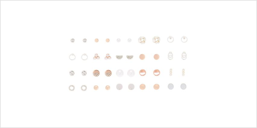 Go to Product: Geometric Stud Earrings - 20 Pack from Claires