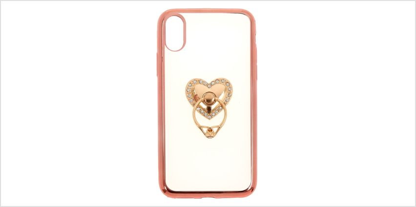 Go to Product: Heart Ring Holder Phone Case - Fits iPhone X/XS from Claires
