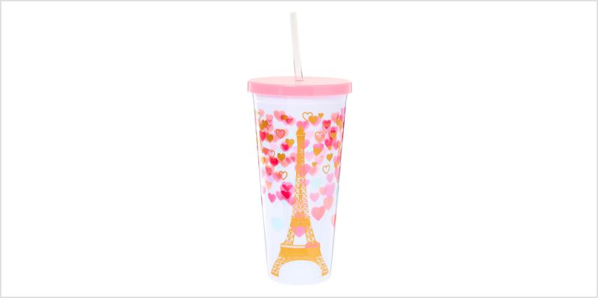 Go to Product: Paris Love Tumbler Cup - White from Claires