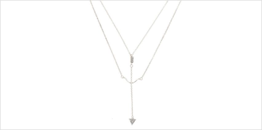 Go to Product: Silver Bow & Arrow Pendant Necklace from Claires