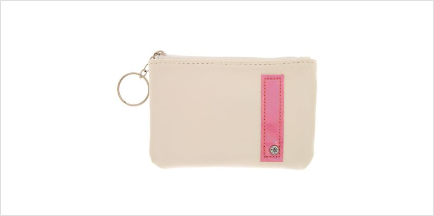 Go to Product: White Faux Leather Pink Initial Coin Purse - I from Claires