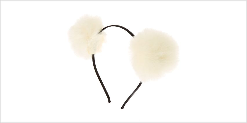 Go to Product: Pom Pom Ears Headband - Ivory from Claires