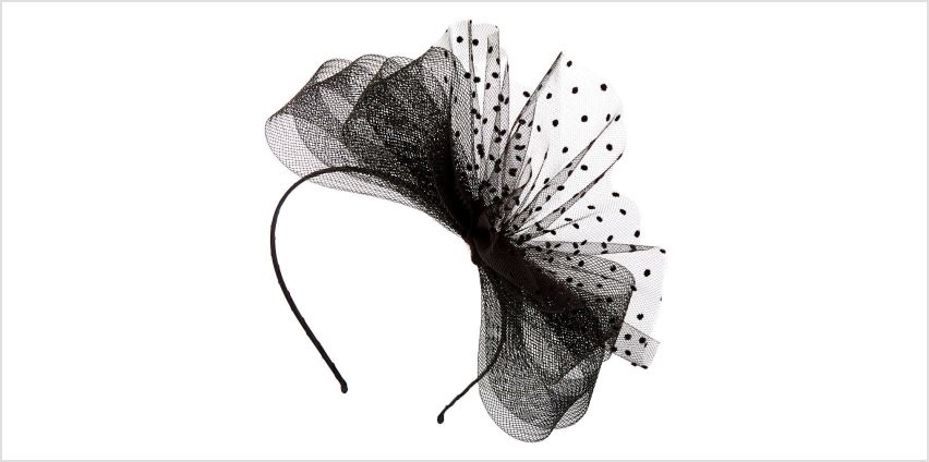 Go to Product: Polka Dot Bow Fascinator Headband - Black from Claires