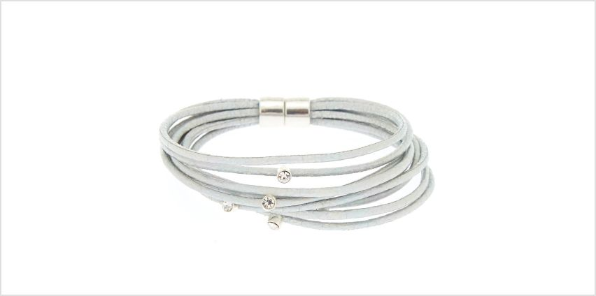 Go to Product: Holographic Cord Statement Bracelet - Silver from Claires