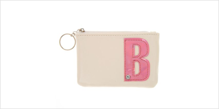 Go to Product: White Faux Leather Pink Initial B Coin Purse from Claires