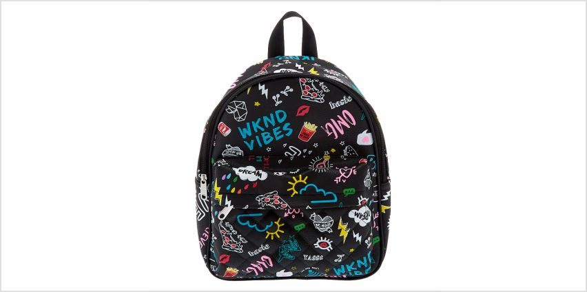 Go to Product: Doodle Midi Backpack - Black from Claires