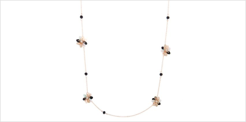 Go to Product: Rose Gold Sequin Flower Statement Necklace - Black from Claires
