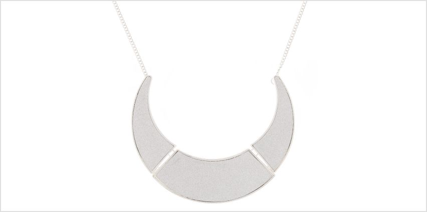 Go to Product: Silver Glitter Collar Statement Necklace from Claires