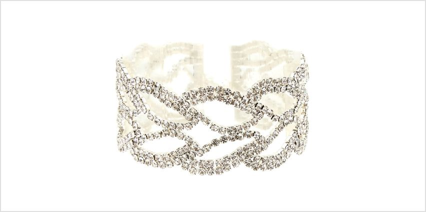 Go to Product: Silver Rhinestone Leaf Chain Bracelet from Claires