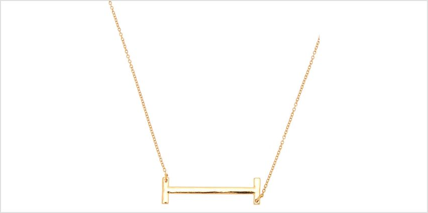Go to Product: Oversized Initial Pendant Necklace - I from Claires