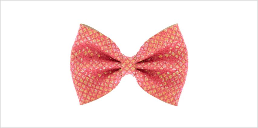 Go to Product: Mermaid Shine Hair Bow Clip - Coral Pink from Claires