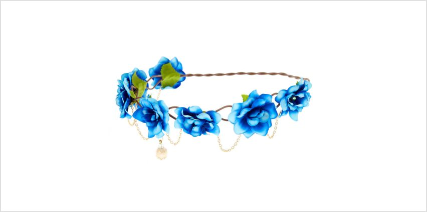 Go to Product: Gold Chain Ombre Flower Crown - Blue from Claires