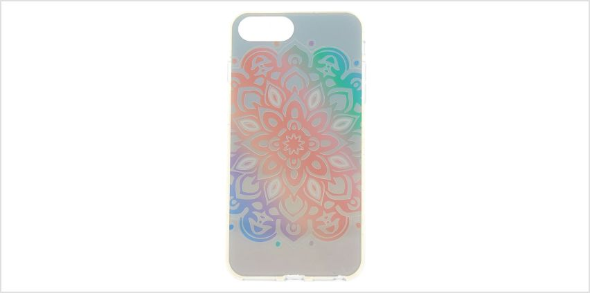Go to Product: Pastel Holographic Mandala Phone Case - Fits iPhone 6/7/8 from Claires