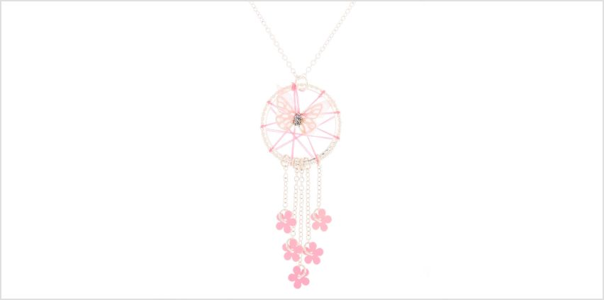 Go to Product: Butterfly Dreamcatcher Pendant Necklace - Pink from Claires