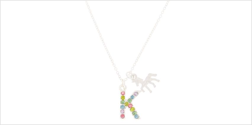 Go to Product: Rainbow Initial Necklace - K from Claires