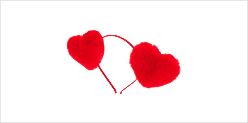Go to Product: Fur Heart Headband - Red from Claires