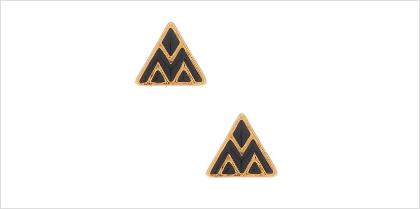 Go to Product: 18kt Gold Plated Triangle Stud Earrings - Black from Claires