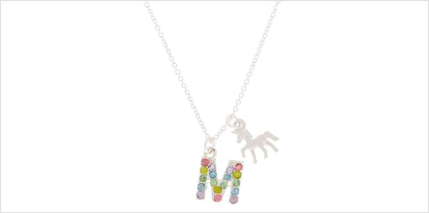 Go to Product: Rainbow Initial Necklace - M from Claires