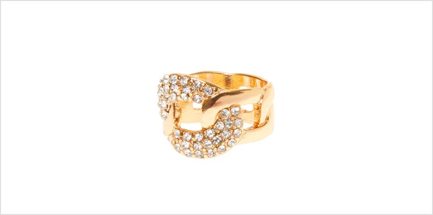 Go to Product: Gold Embellished Chain Link Ring from Claires