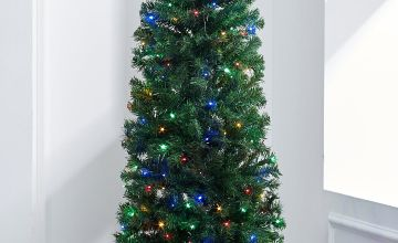 Green Deluxe Pre-Lit Christmas Tree with Multi LEDs