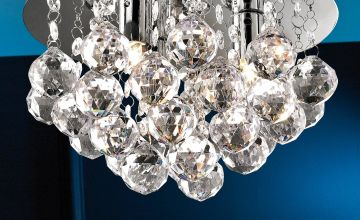 Chrome Deco Droplet Ceiling Lamp