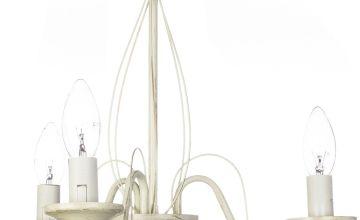 Brushed Cream Chandelier - 3 Light