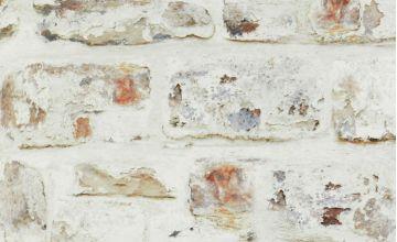 Whitewashed Brick Wallpaper