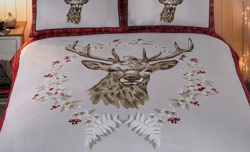 Angus Stag Flannelette Duvet Set