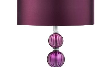 Stacked Table Lamp Chrome Glass