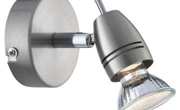 1 Light Spotlight Satin Silver
