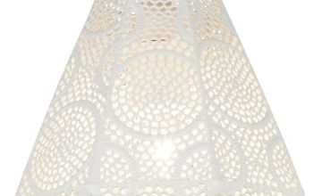 White Hexagonal Fretwork Easy Fit Shade