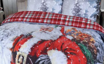 Father Christmas Snow Scene Duvet Set