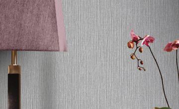 Raffia Silver Wallpaper