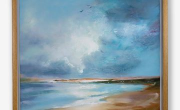 Painted Seascape Framed Canvas