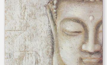3D Peaceful Buddha Canvas
