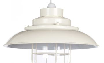 Worcester Easy Fit Cream Pendant Light Shade
