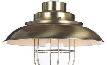 Worcester Easy Fit Antique BrassPendant Light Shade