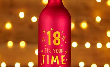 Light Up Bottle 18th Birthday