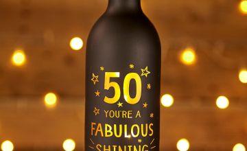 Light Up Bottle 50th Birthday