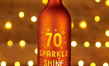 Light Up Bottle 70th Birthday