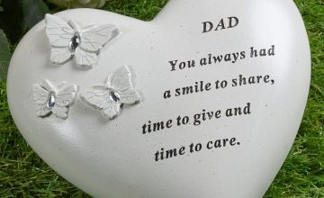Butterfly Heart Dad Memorial Plaque
