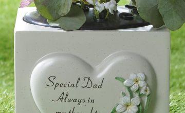 Heart Plant Memorial Dad Vase