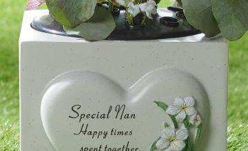 Heart Plant Memorial Nan Vase